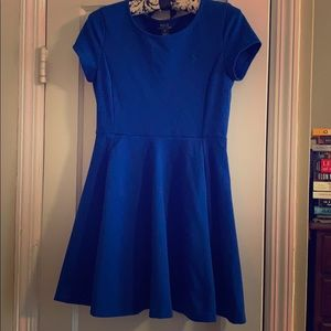 Girls Royal Blue Polo Ralph Lauren Skater Dress